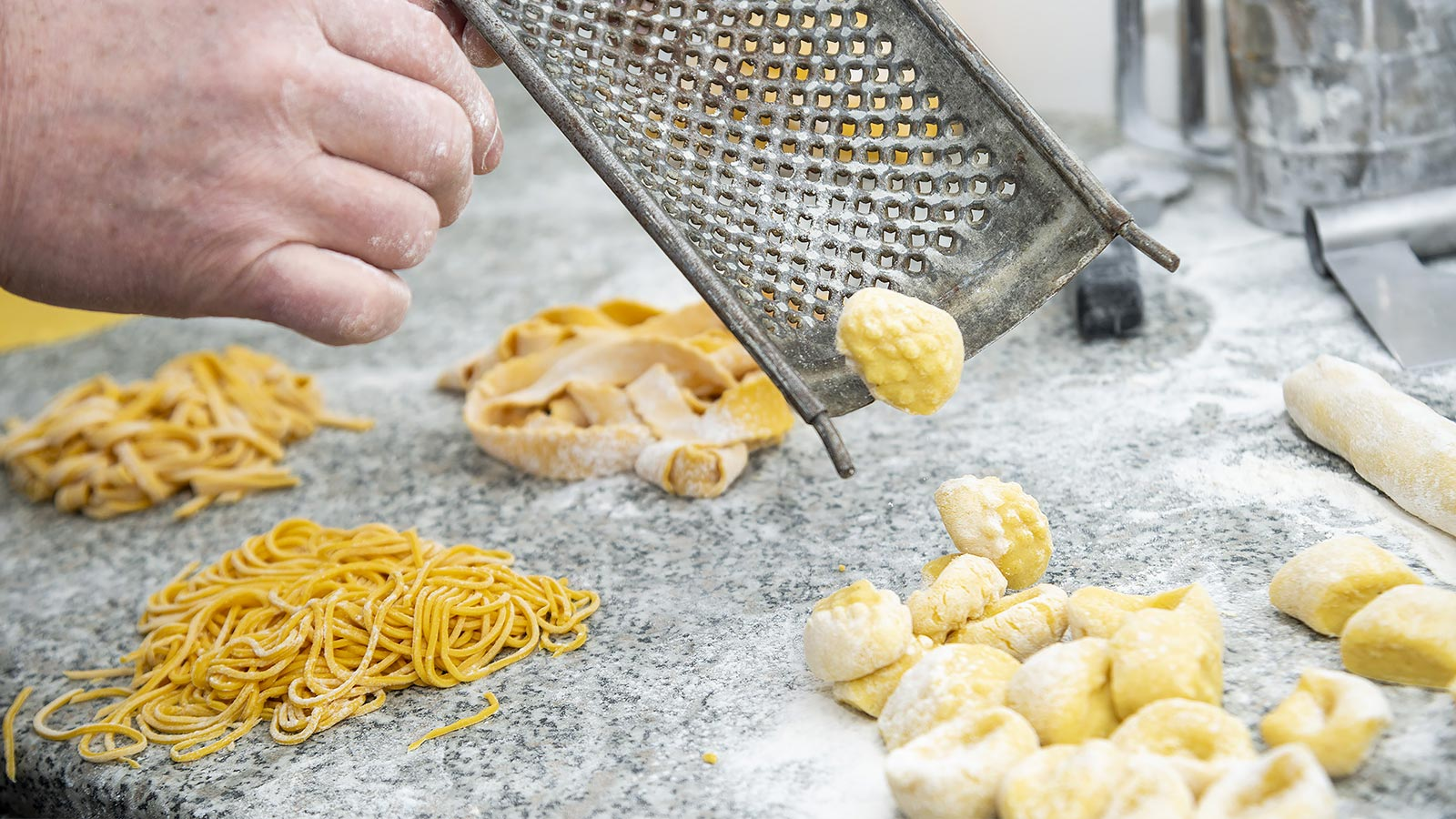 Detail of the tool to make gnocchi